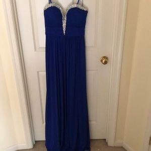 Blue needed prom dress